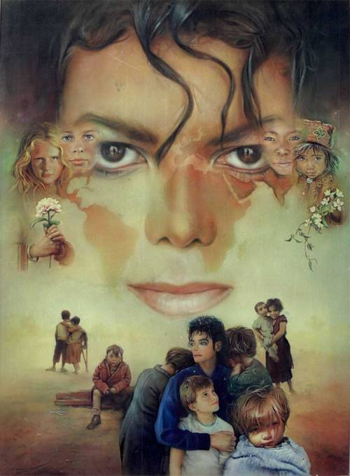 "love-survives-always:Nate Giorgio : ""Recently, I signed with Cirque du Soleil to allow 15 of my pieces to be used in the Michael Jackson IMMORTAL show including ""Heal The World"" along with many of the ink paintings and special graphics I created for the Opus."""