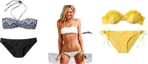 Swimsuits for Small on Top by thehautebunny featuring a lace bikiniVictoria s Secret lace bikini, $24: Target, $15Women's Mix Match Bikini Bottoms, $13Women's Mix Match Bandeau Tops, $10