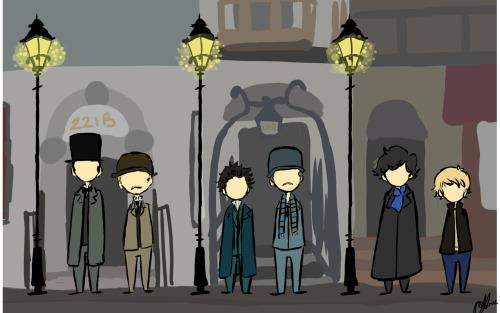 sherlock holmes john watson bbc sherlock Granada Sherlock 2009 Movie image