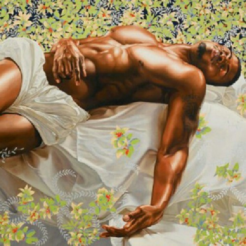 I love this artists #paintings #kihindewiley #beautiful #inspirational #concept #black #men #royalty #sex #elevated  (Taken with Instagram)