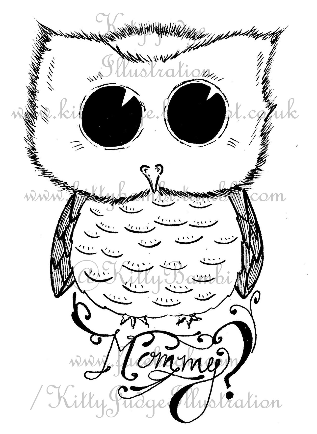 Simple Baby Owl Drawing