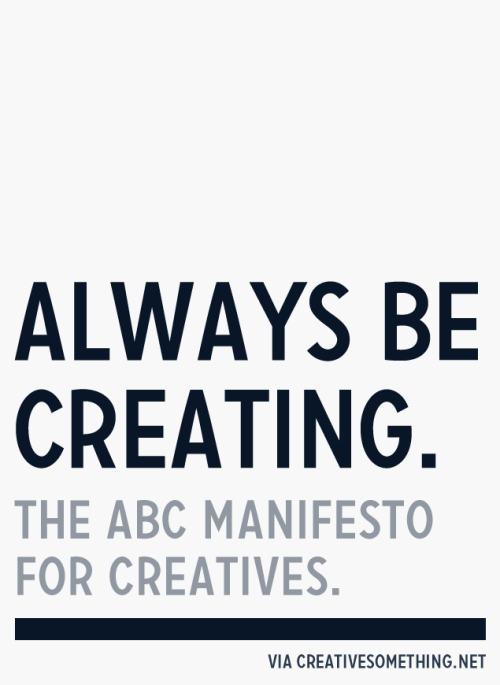 ABC Manifesto for creatives