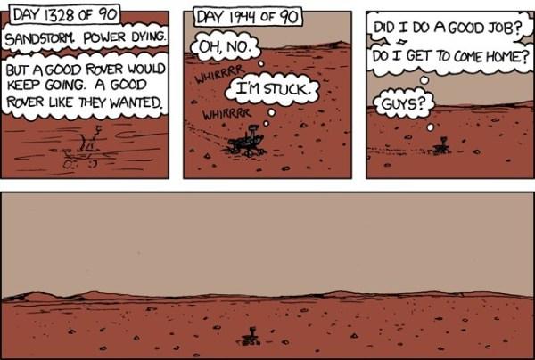 comic xkcd nasa spirit rover mars rover be-n •