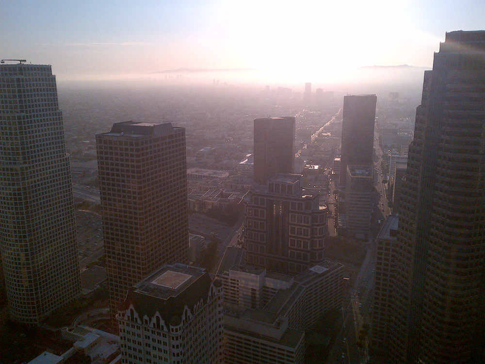 Downtown Los Angeles, city buildings