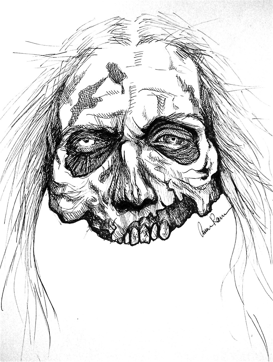Easy Walking Dead Coloring Pages