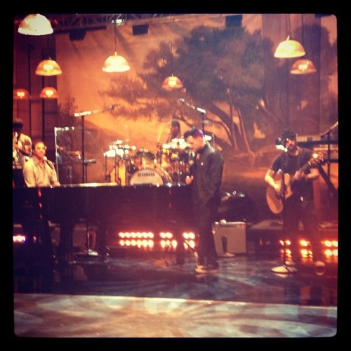Rehearsing at @jayleno for tonight The Madden Brothers performing with @LionelRichie woohoo!  (Taken with Instagram)