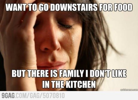 When unwanted family comes over
