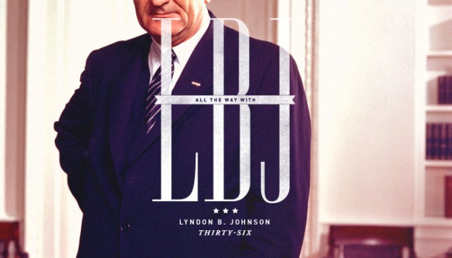 "Thirty-Sixth President: Lyndon B. Johnson (1963-1969)<br /> His election slogan was ""All the way with LBJ"". As seen here.</p> <p>""I am concerned about the whole man. I am concerned about what the people, using their government as an instrument and a tool, can do toward building the whole man, which will mean a better society and a better world.""<br />"