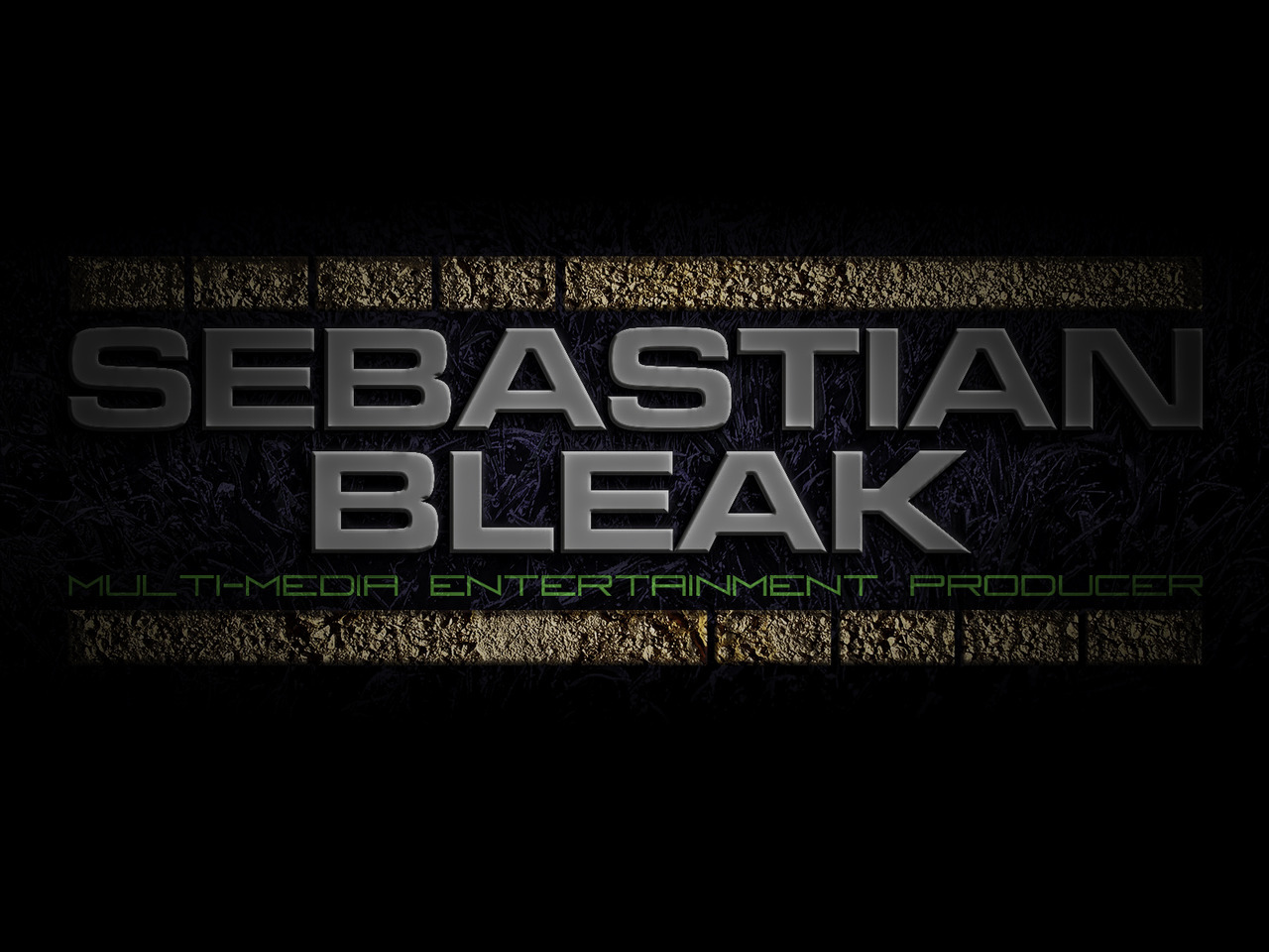 Sebastian Bleak Multi-Media Entertianment Producer Title Card