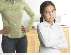 child ignoring adult
