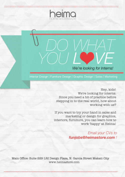 Do What You Love / We're looking for Interns! :)