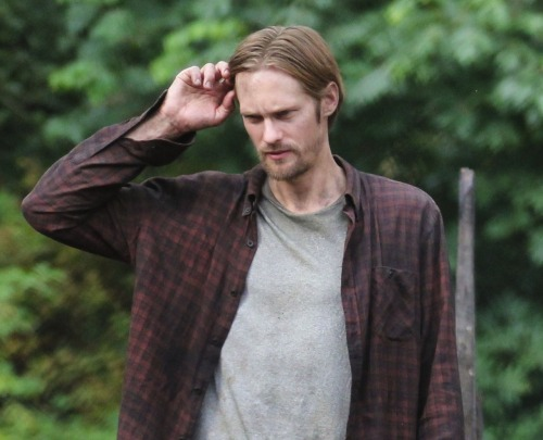 "<br /><br /> For a moment Skarsgård almost seems tired, as if the months of work and travel have finally caught up to him. Perhaps he is human?<br /><br /> It turns out he's just hungry - intentionally losing weight for Hidden, the film he's preparing to shoot about a husband hiding out in a bunker. Skarsgård is determined to look the part. ""There's food in the bunker,"" he explains. ""But, like, canned beans and stuff. I felt that I looked too healthy.""<br /><br /> He pulls at the waistband of his white jeans, noticeably looser, and says this is his first diet - ever. ""I hate it,"" he says. ""It's horrible. I don't eat much but salad. And I run every day.""<br /><br /> For a moment we almost feel bad for the guy. Until he stands up - a towering 194cm of Scandinavian DNA, chiseled like something out of the Uffizi Gallery in Florence - and excuses himself with a firm handshake and a wide smile. Nope, no sympathy here. </p><br /> <p>^ The bold."