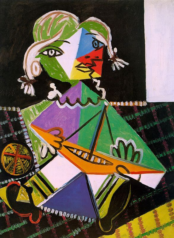 G|rl with a boat (Maya Picasso), 1938, oil on canvas, 241/2 x 181/2 in.