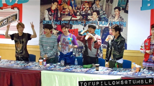 BTOB fansign in Jongno. please do not edit, crop or remove watermark