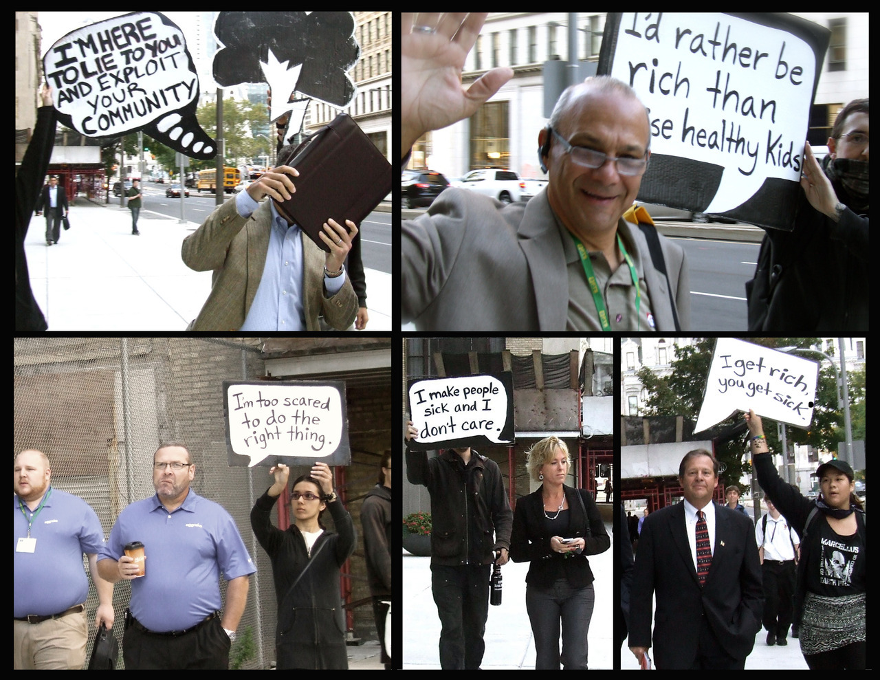 """""""Sunrise Intervention"""" protesters confront shale gas industry conventioneers in Philadelphia in September 2012, delaying Rex Tillerson's keynote address. Photo: The People's Record."""