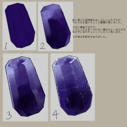 Art Pixiv Tutorial Gems Gemstone Art Tutorial Painting