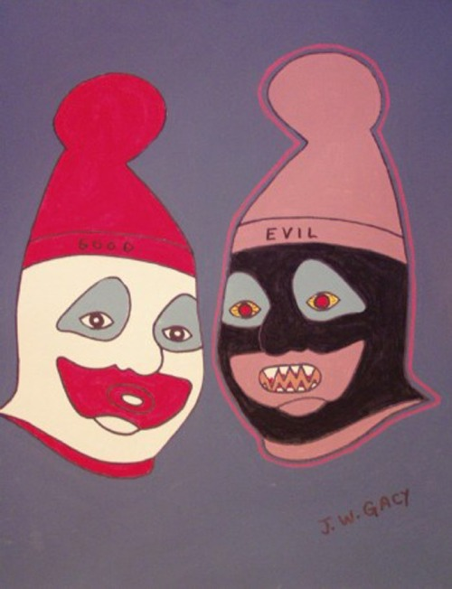 john wayne gacy, killer art, serial, allthingscrimeblog