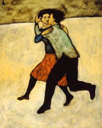 Lovers Running Painting