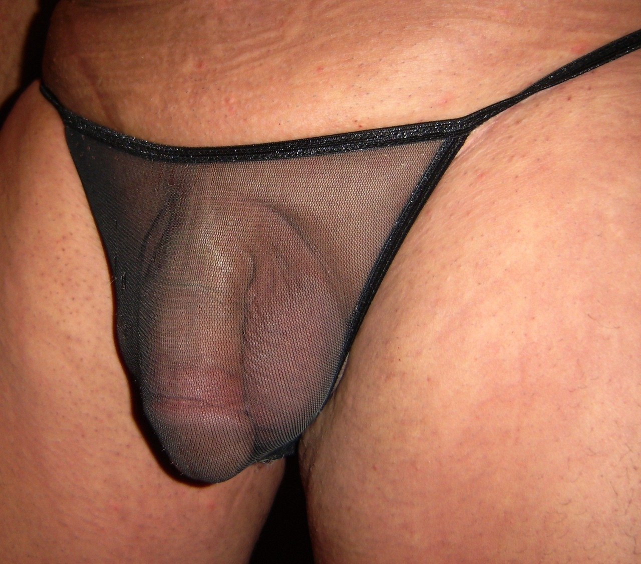 Small cock in panties