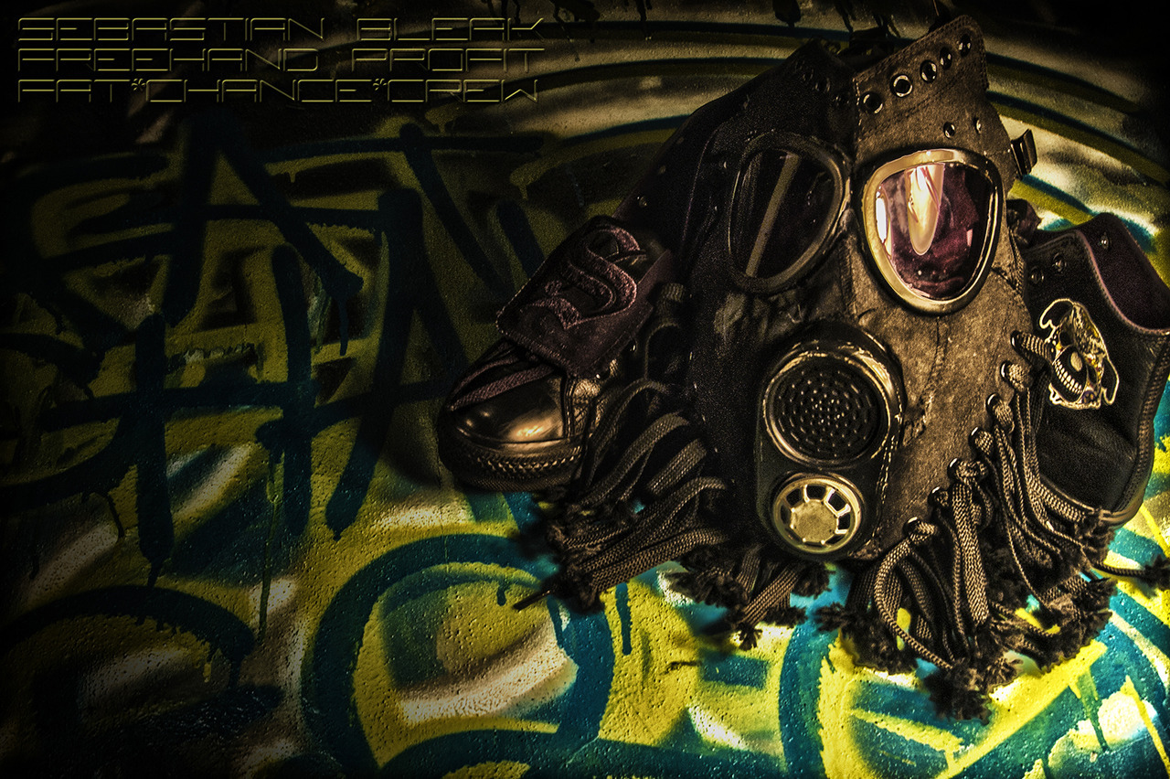 HDR Shot and Edited by Sebastian Bleak Gas Mask by Freehand Profit