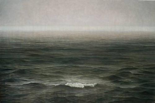 Tzu-Chi Yeh 葉子奇 - Typhoon Approaching. Oil over tempera on linen, 200x300cm (2007-09)