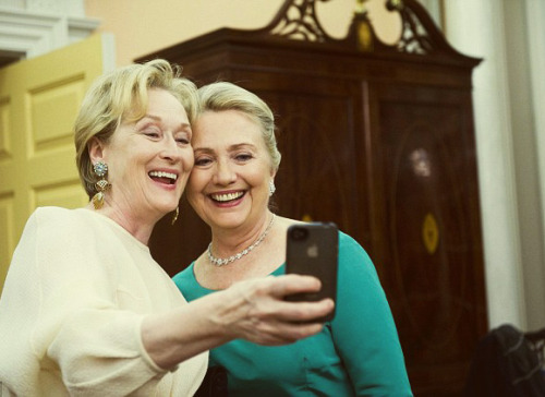 Meryl and Hillary, Kennedy Center Dec. 1