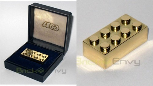 This is the gold brick LEGO shits out to employees who have been working for the company for 25 years I assume it actually fits with regular plastic LEGO bricks, but this $14,000 gold LEGO brick isn't something you'll find anywhere anytime soon. Via