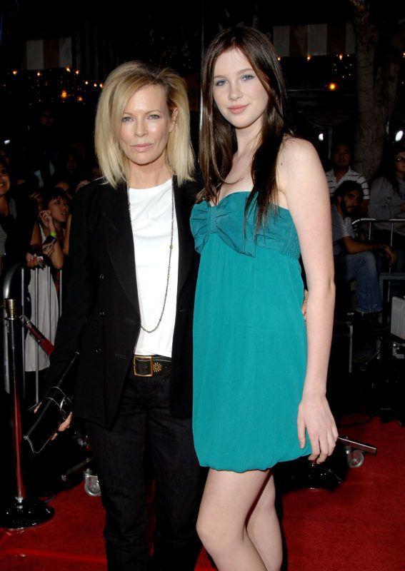 "LOS ANGELES, CA - NOVEMBER 17: Actress Kim Basinger and daughter Ireland Baldwin arrive at the Los Angeles Premiere ""Twilight"" at the Mann Village Theater on November 17, 2008 in Westwood, California. (Photo by Jon Kopaloff/FilmMagic)"