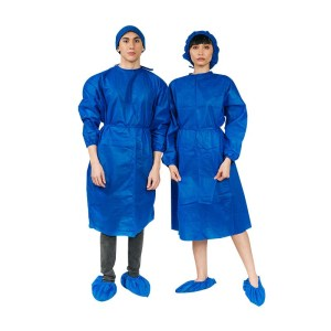 Non- Woven Isolation gown with Shoe and Head Cover