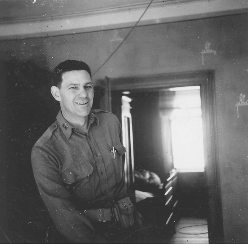 113. Captain Victor M. Torres, Battery Commander Battery B, Dewey, Oklahoma. Somewhere in France