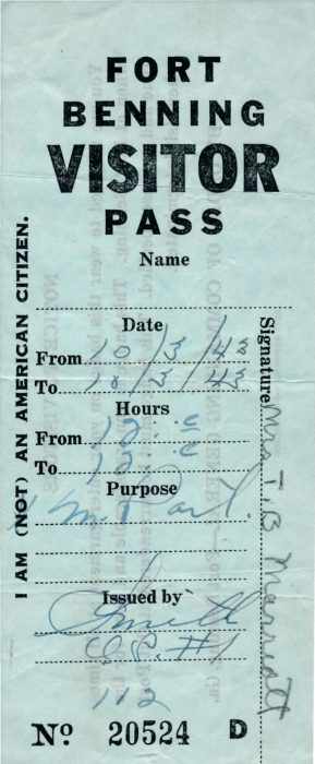 10-03-43-Fort-Benning-Visitor-Pass-Frount-