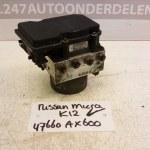 47660 AX600 ABS Pomp Nissan Micra K12 CR14