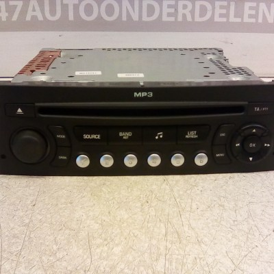 96 643 699 XT Radio MP3 speler Peugeot 207 SW 2009