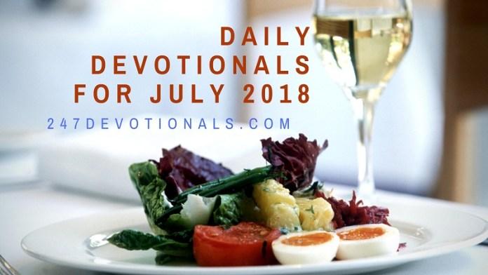 Free Daily Devotional July