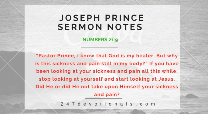 Joseph prince sermon notes