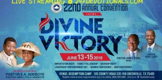 RCCG NORTH AMERICA CONVENTION LIVE STREAMING
