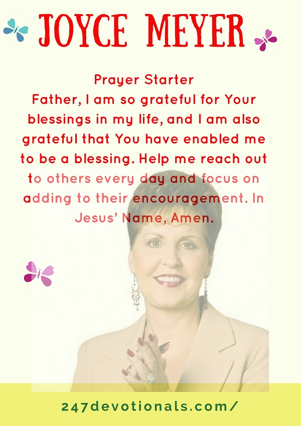 Prayer Starter Joyce Meyer