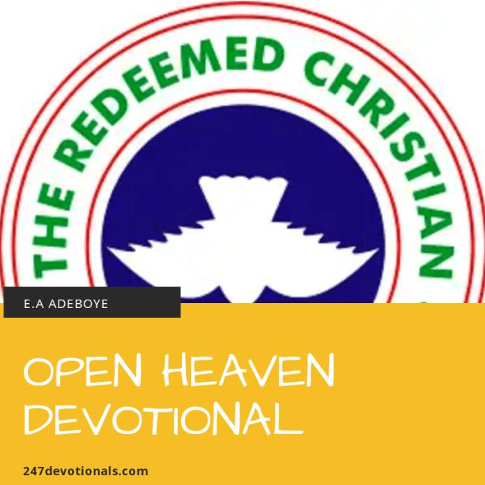 Today open heaven devotional