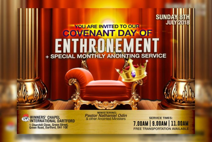 Winners Church Covenant Day of Enthronement July 8, 2018 Datford