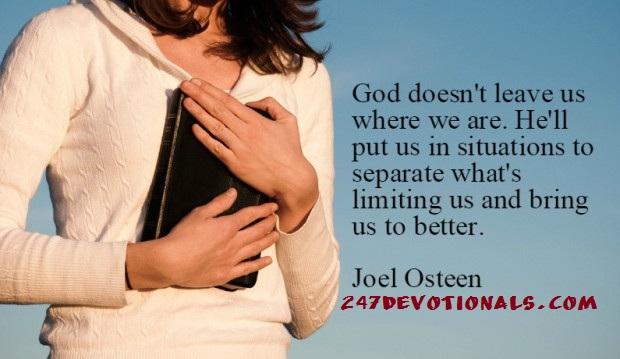 joel osteen words today
