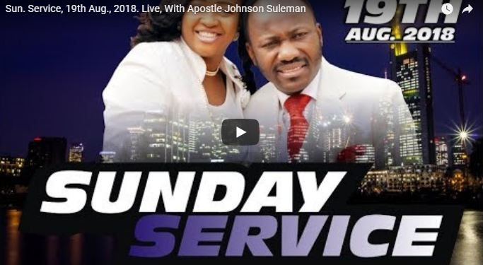 Online Live Sun Service With Apostle Johnson Suleman