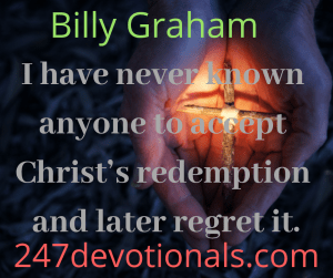 Billy Graham devotion