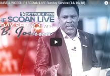 SCOAN LIVE Sunday Service October 2018