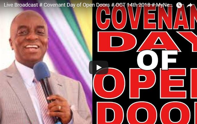 Winners Chapel Sunday Covenant Day of Open Doors ocober 14 2018
