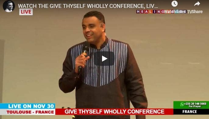 Dag Heward-Mills LIVE FRANCE DAY 3 THE GIVE THYSELF WHOLLY CONFERENCE