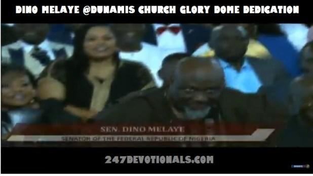 Dino Melaye at Glory Dome Dedication