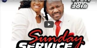 Live Sunday Service 11th Nov 2018 Live With Apostle Johnson Suleman
