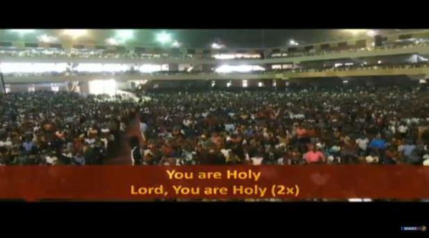 Massive Crowd At Glory Dome Abuja