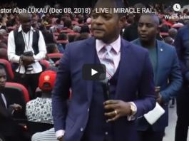 Pastor Alph LUKAU Dec 08 2018 LIVE