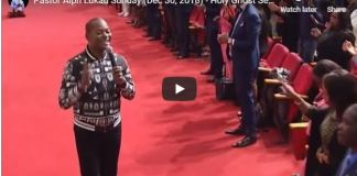 Pastor Alph Lukau Sunday (Dec 30, 2018)